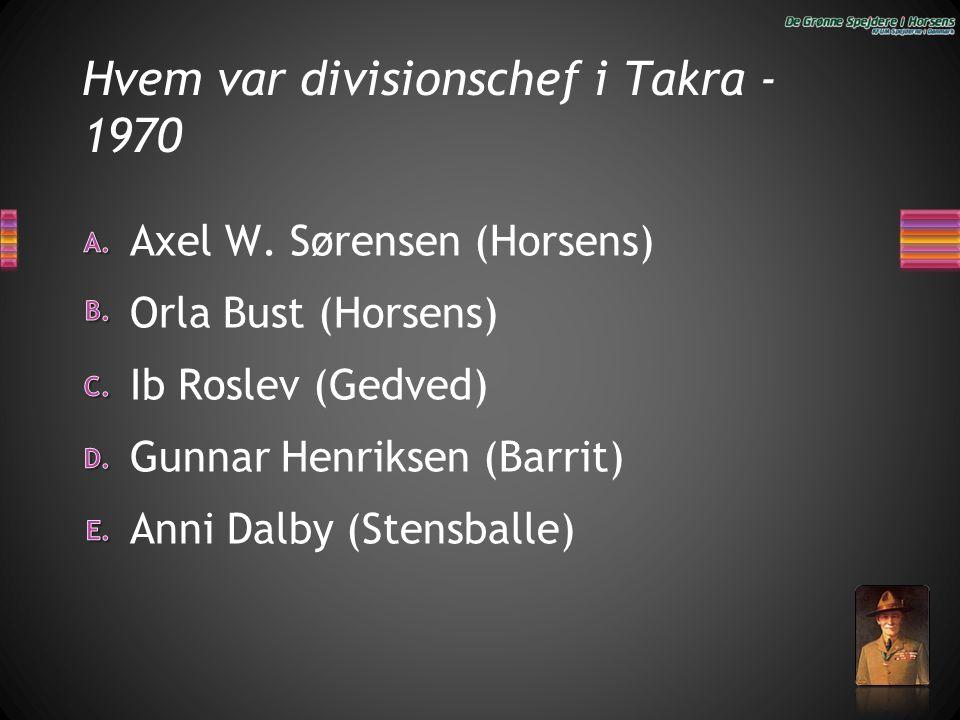 Hvem var divisionschef i Takra -1970