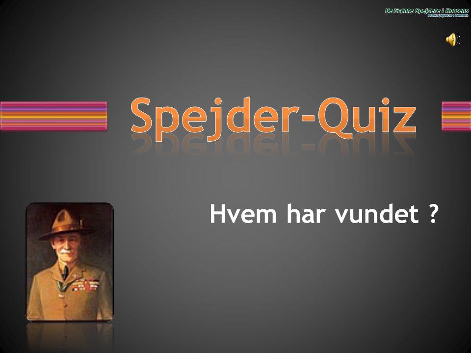 Spejder-Quiz Hvem har vundet