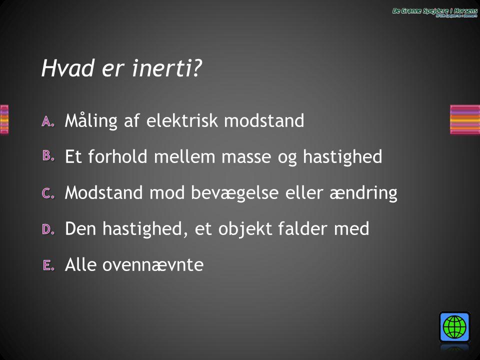 Hvad er inerti Måling af elektrisk modstand