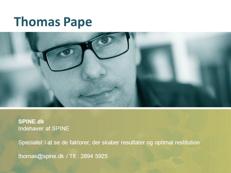 Thomas Pape SPINE.dk Indehaver af SPINE