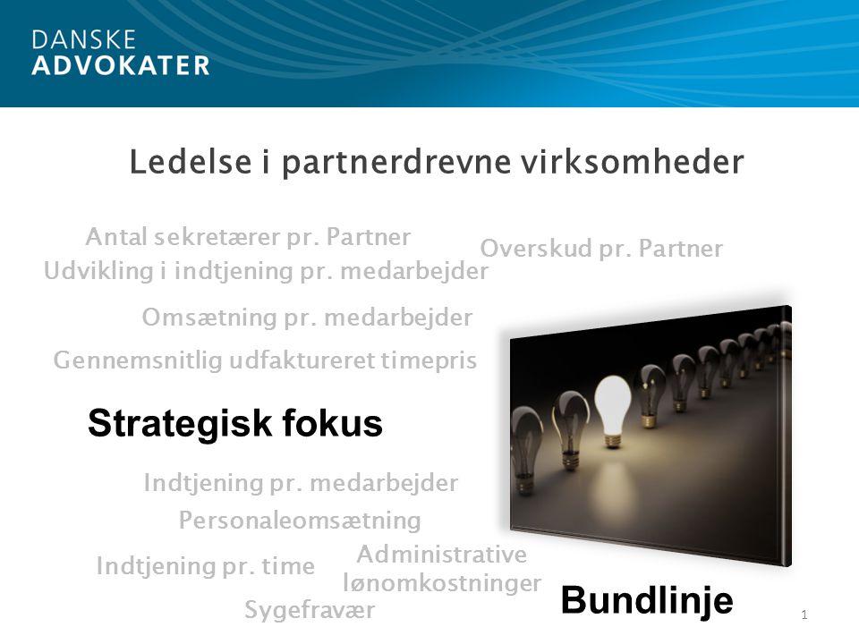 Strategisk fokus Bundlinje Ledelse i partnerdrevne virksomheder