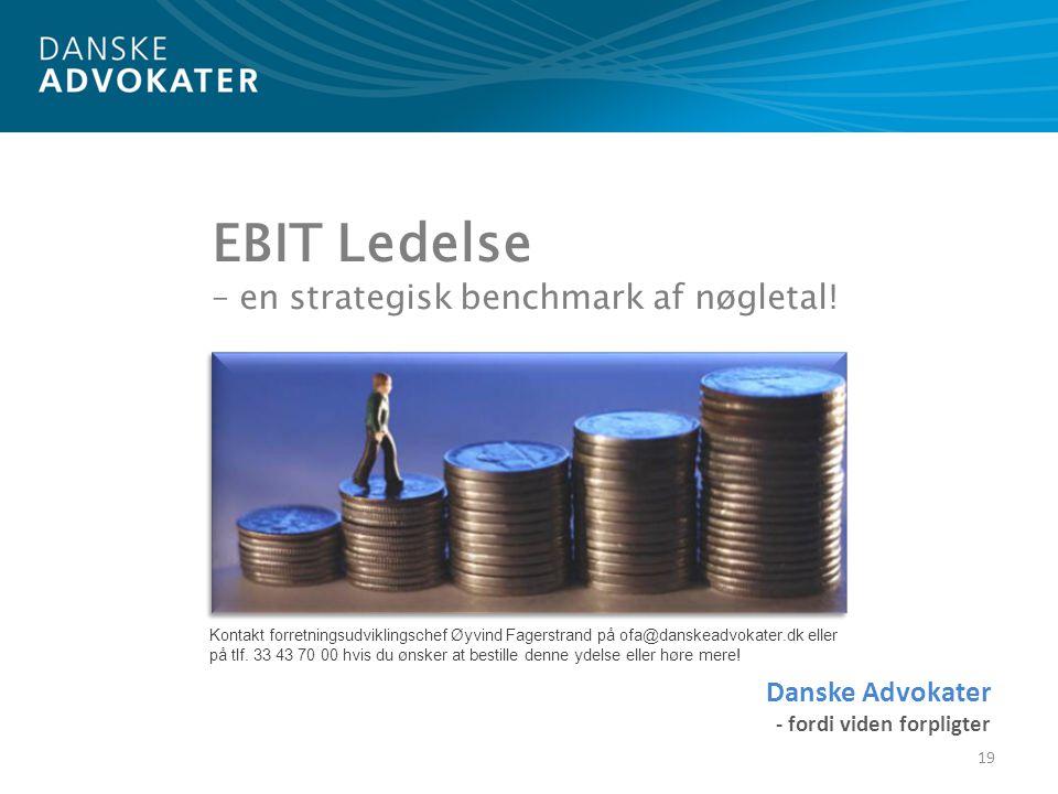 EBIT Ledelse – en strategisk benchmark af nøgletal!