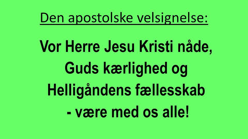 Den apostolske velsignelse: