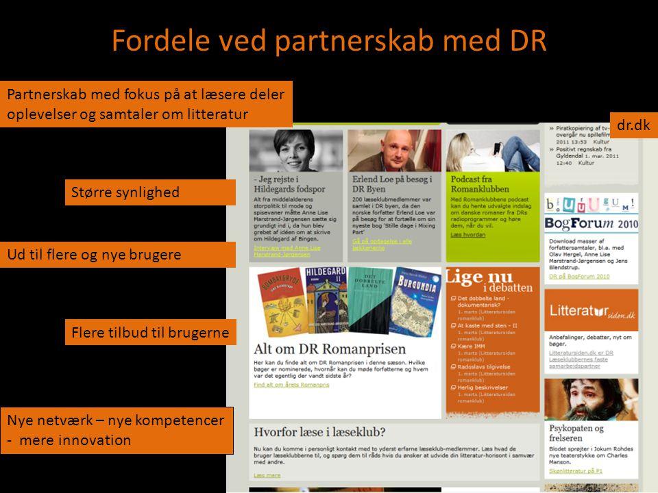 Fordele ved partnerskab med DR