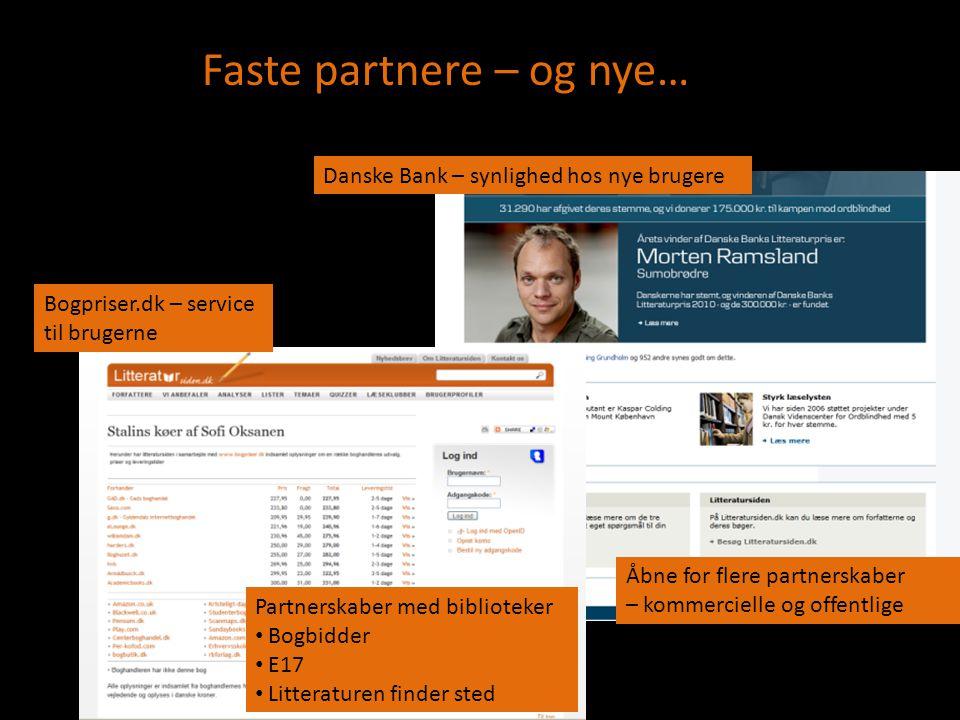 Faste partnere – og nye…