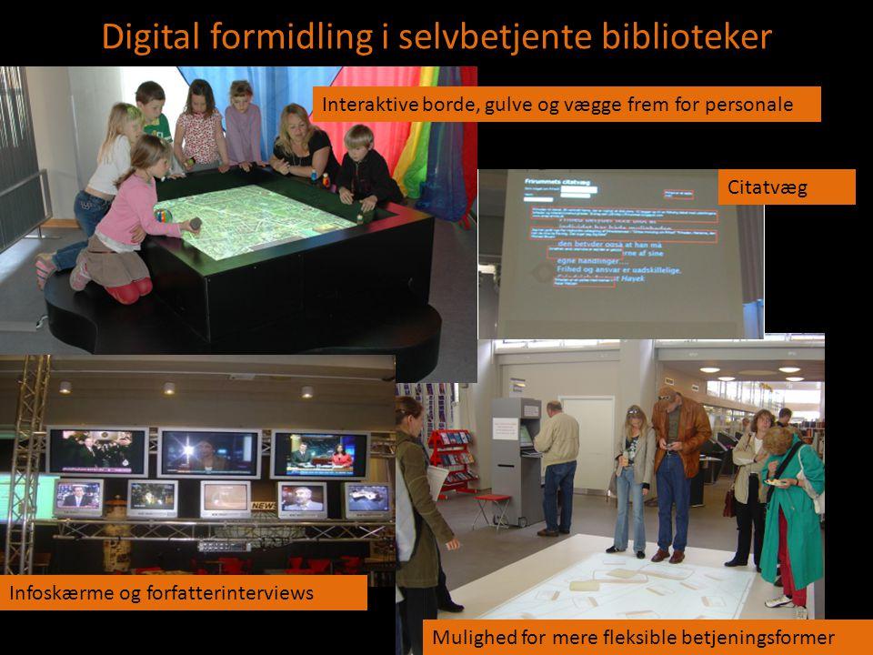 Digital formidling i selvbetjente biblioteker Ss