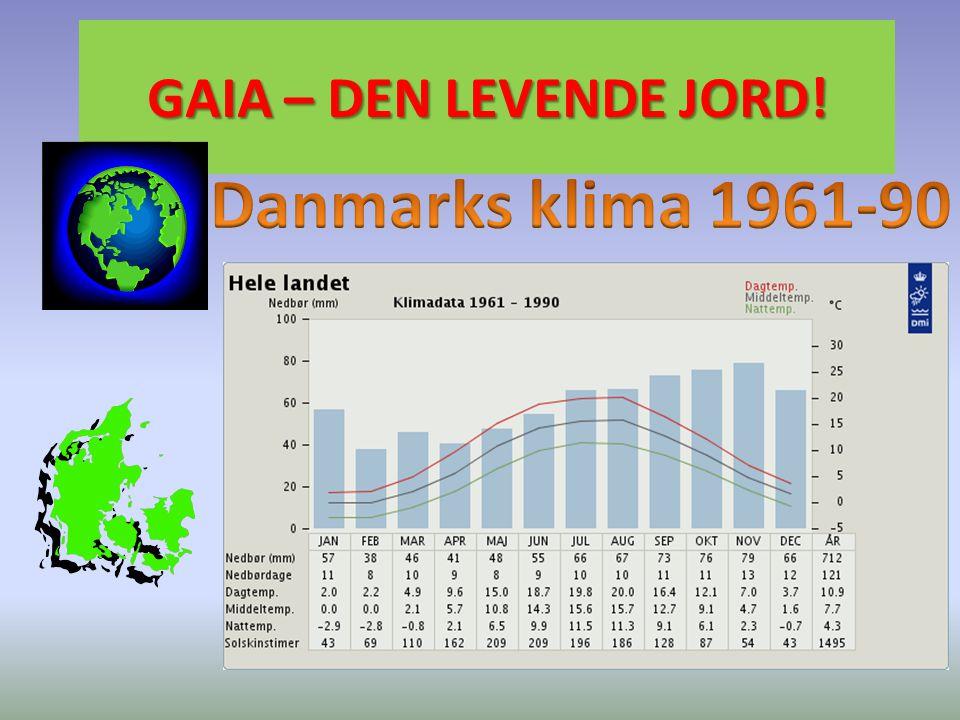 GAIA – DEN LEVENDE JORD! Danmarks klima 1961-90