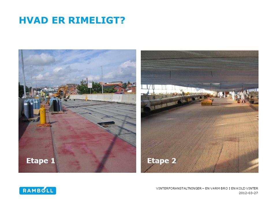 HVAD ER RIMELIGT Content slide, two columns with image Etape 1