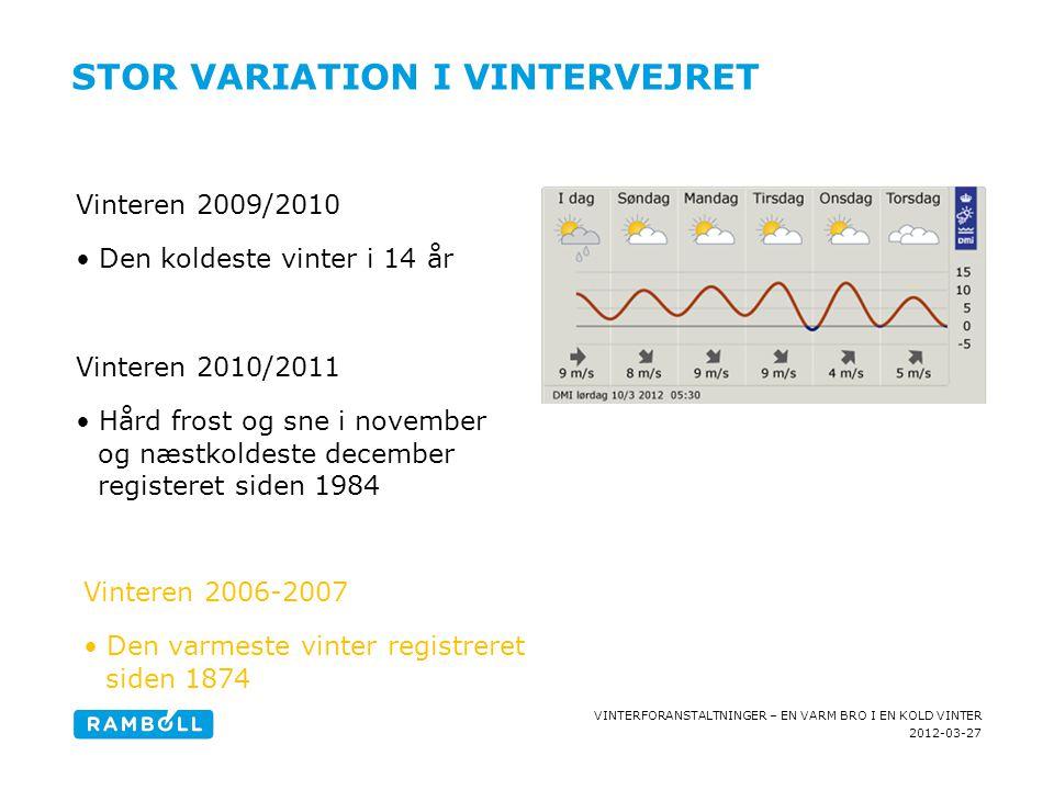 Stor variation i vintervejret