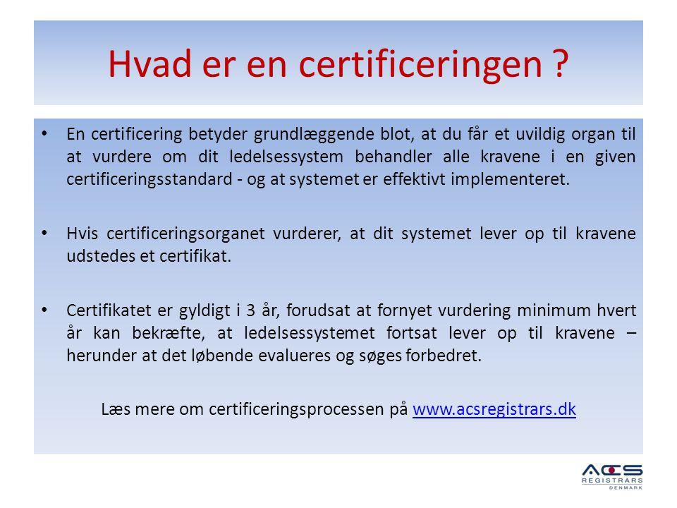 Hvad er en certificeringen