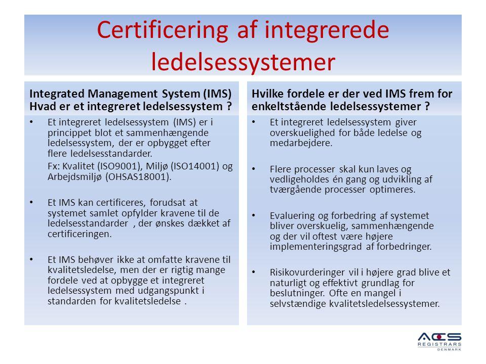 Certificering af integrerede ledelsessystemer
