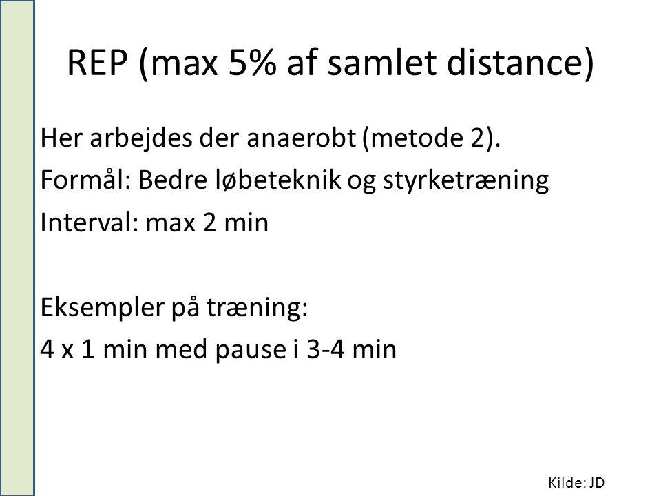 REP (max 5% af samlet distance)