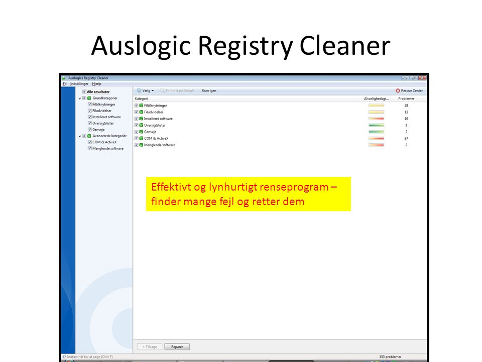Auslogic Registry Cleaner