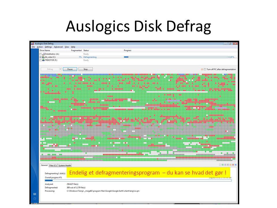 Auslogics Disk Defrag Erik Ankerstjerne OZ1LOM.