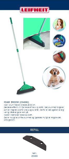 REFILL FOAM BROOM (254682) Kost i skum med en bredde på 34 cm.