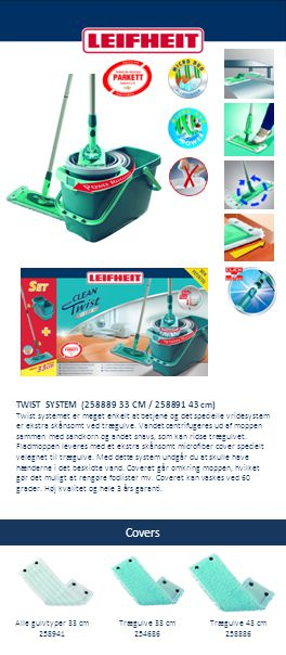 Covers TWIST SYSTEM (258889 33 CM / 258891 43 cm)