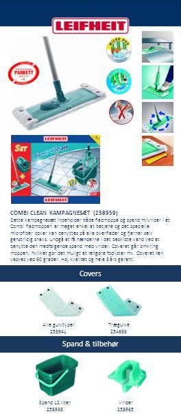 Covers Spand & tilbehør COMBI CLEAN KAMPAGNESÆT (258959)