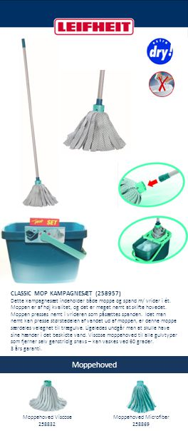Moppehoved Microfiber