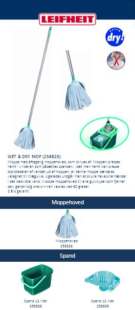 Moppehoved Spand WET & DRY MOP (258820)