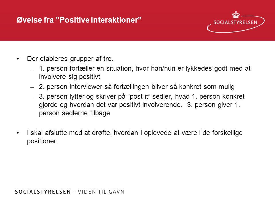 Øvelse fra Positive interaktioner