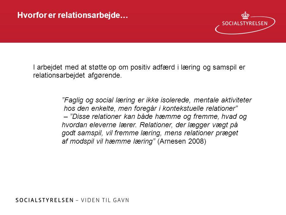 Hvorfor er relationsarbejde…