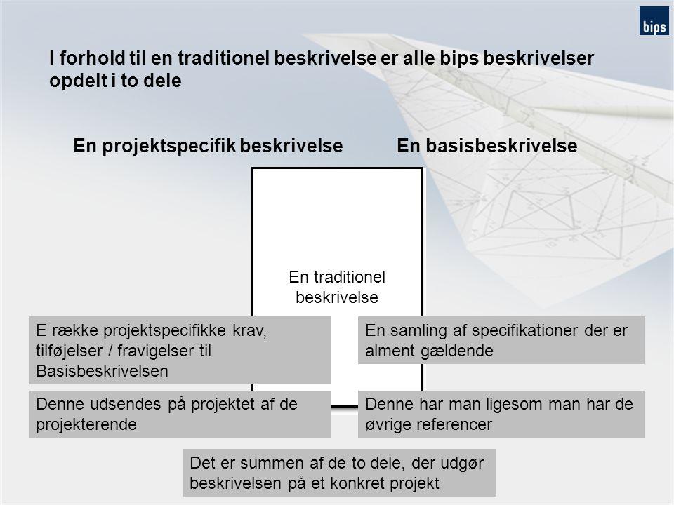 En projektspecifik beskrivelse En basisbeskrivelse