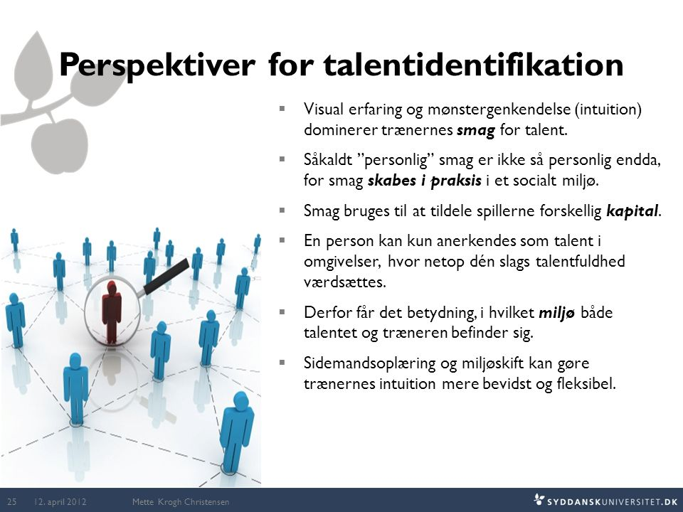 Perspektiver for talentidentifikation
