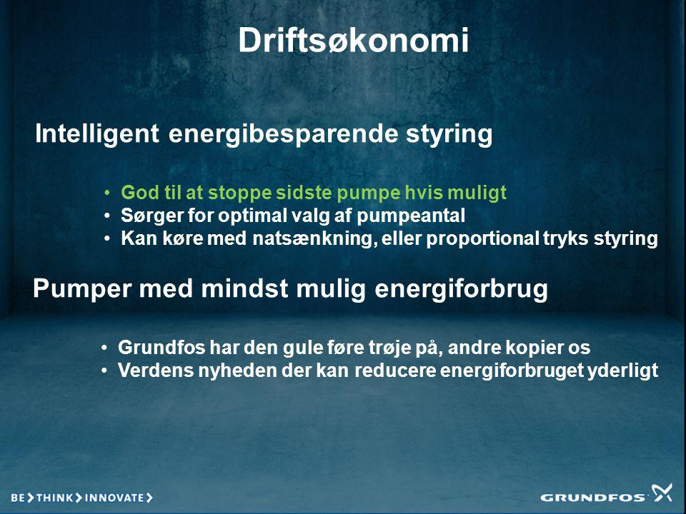 Driftsøkonomi Intelligent energibesparende styring