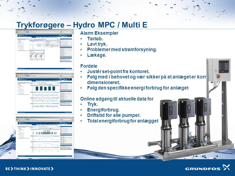 Trykforøgere – Hydro MPC / Multi E