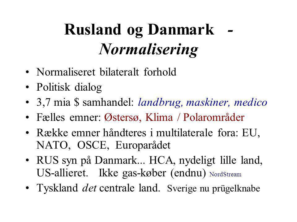 Rusland og Danmark - Normalisering