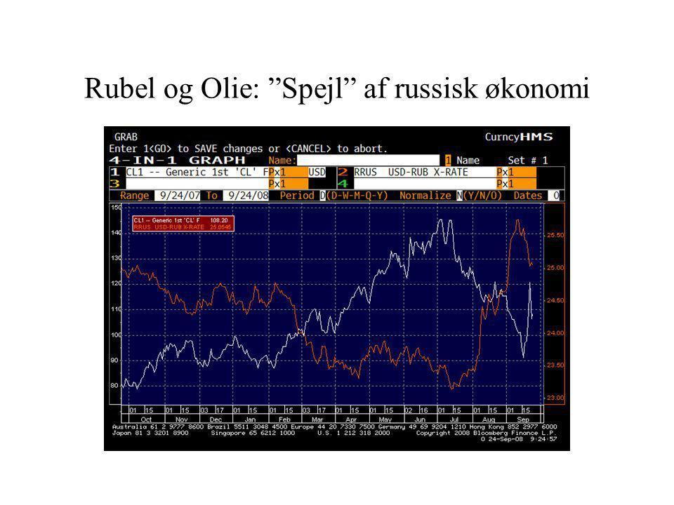 Rubel og Olie: Spejl af russisk økonomi