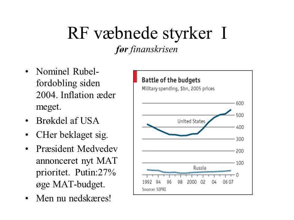 RF væbnede styrker I før finanskrisen