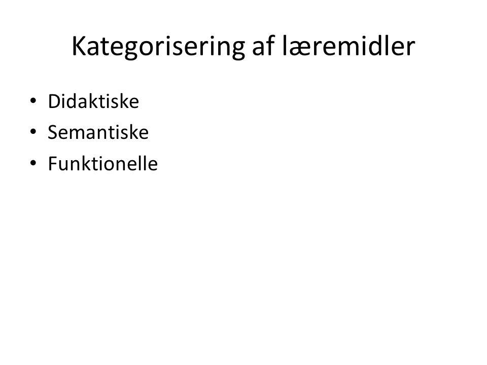 Kategorisering af læremidler