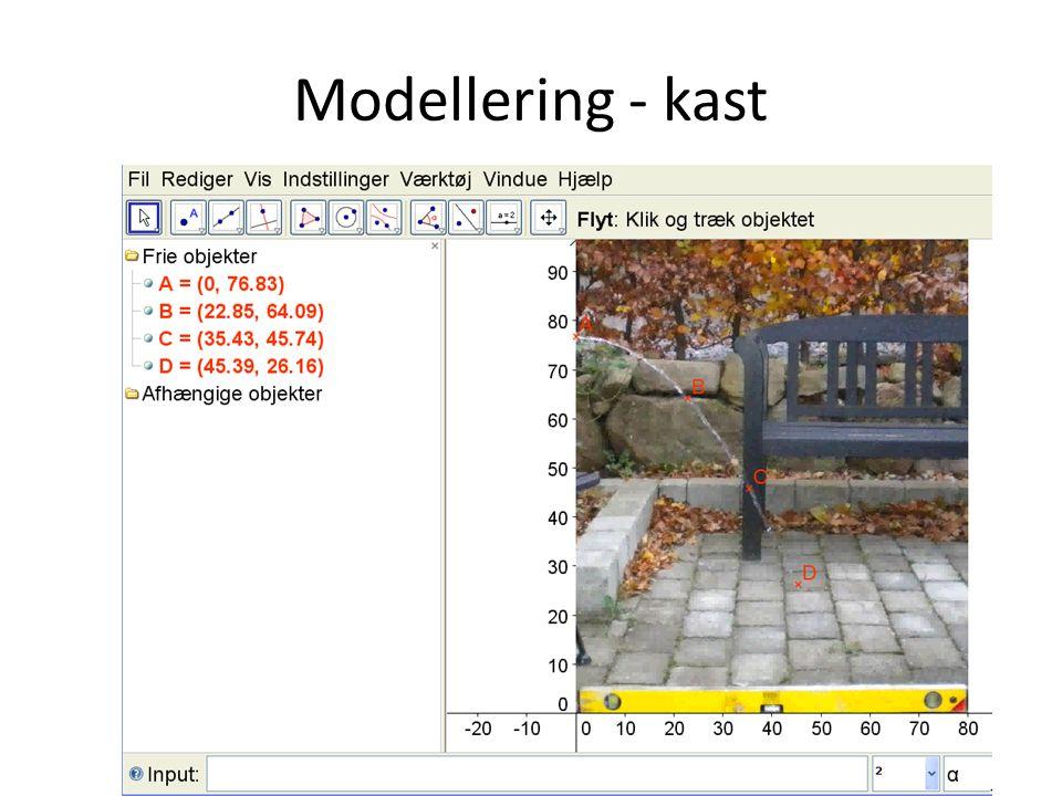 Modellering - kast