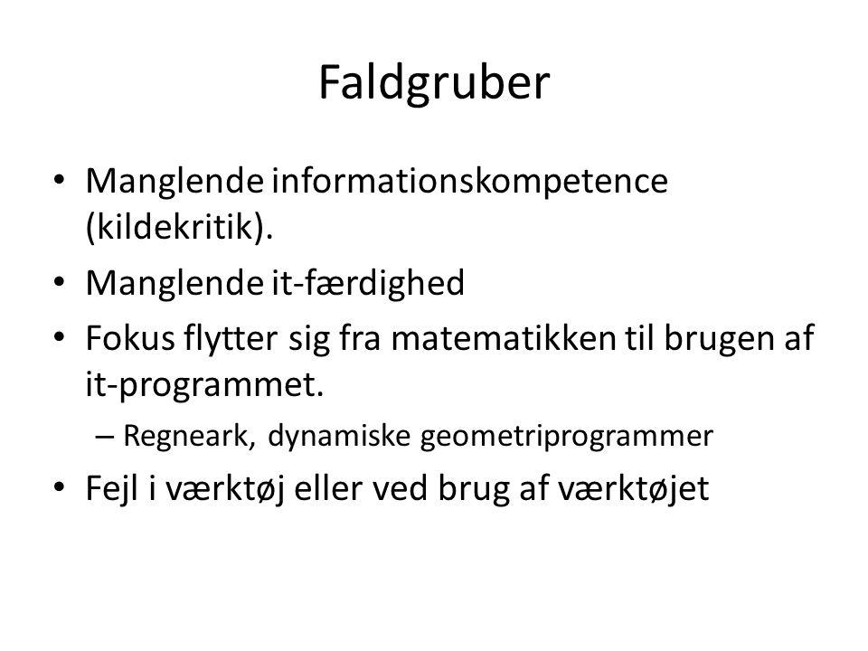 Faldgruber Manglende informationskompetence (kildekritik).