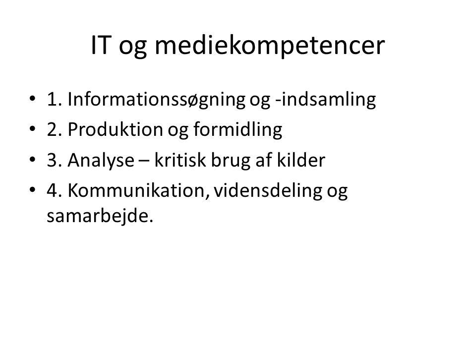 IT og mediekompetencer