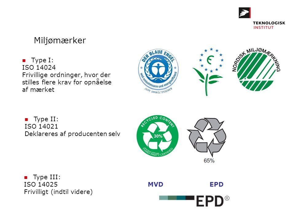 Miljømærker Type I: ISO 14024