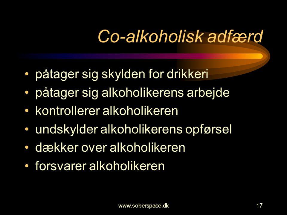 Co-alkoholisk adfærd påtager sig skylden for drikkeri