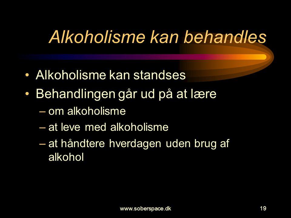 Alkoholisme kan behandles