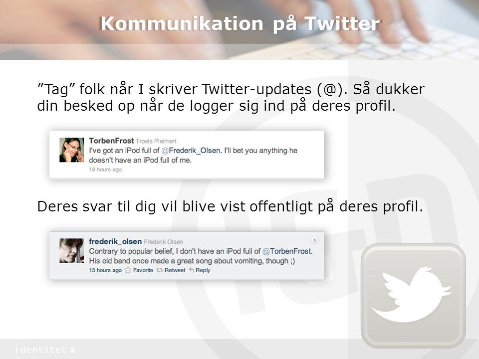 Kommunikation på Twitter