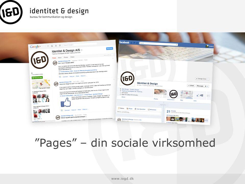 Pages – din sociale virksomhed