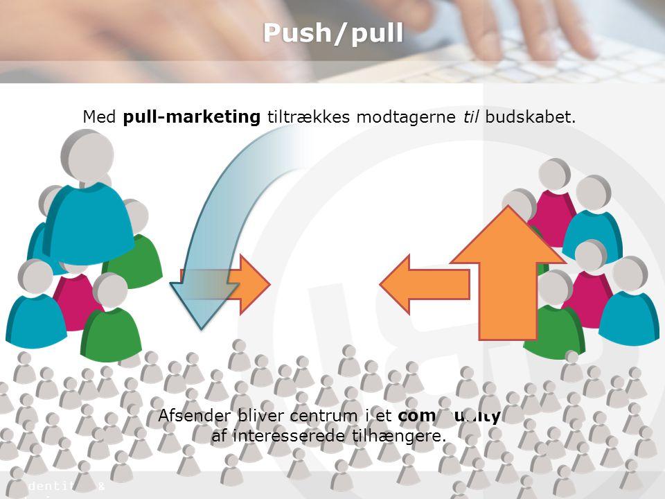 Push/pull Med pull-marketing tiltrækkes modtagerne til budskabet.