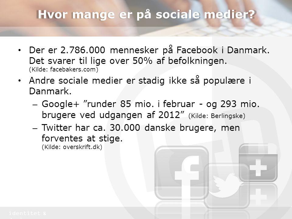 Hvor mange er på sociale medier