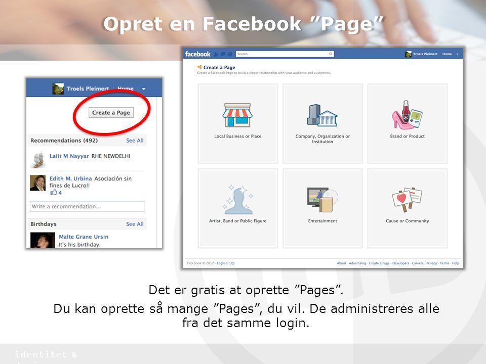 Opret en Facebook Page