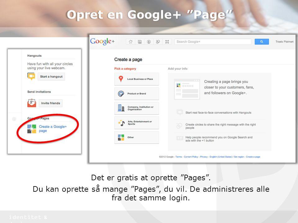 Opret en Google+ Page