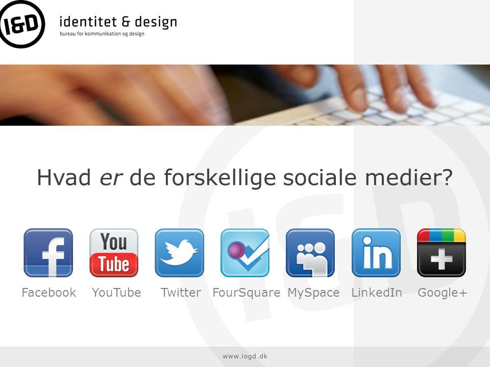 Hvad er de forskellige sociale medier