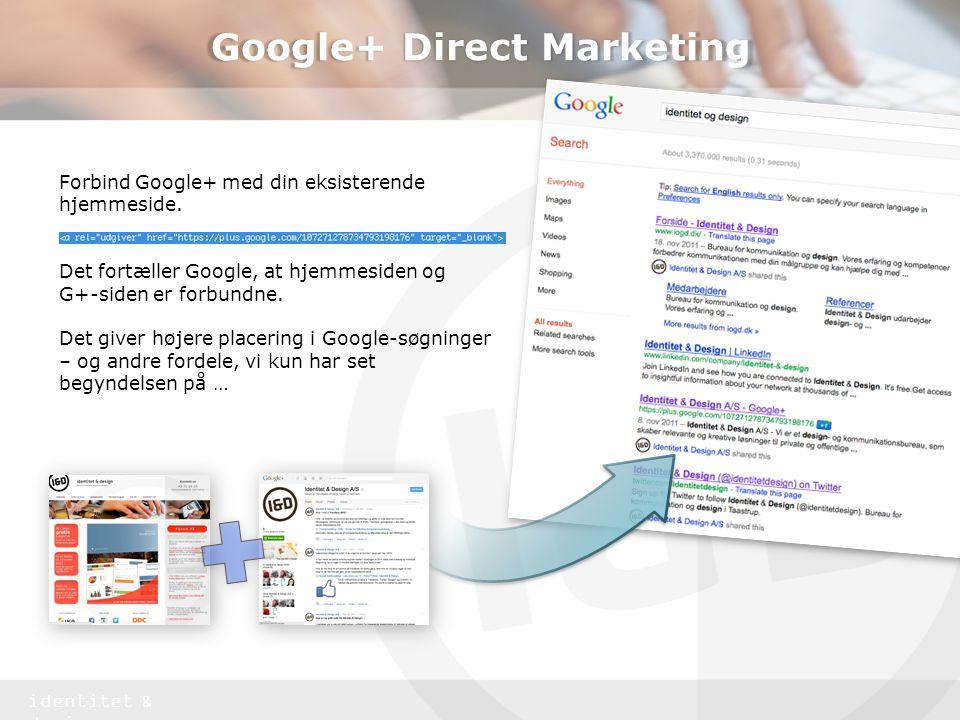 Google+ Direct Marketing