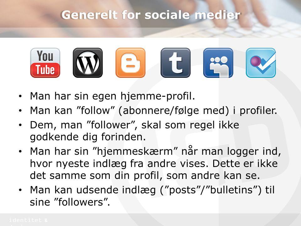 Generelt for sociale medier