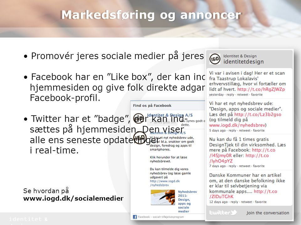 Markedsføring og annoncer