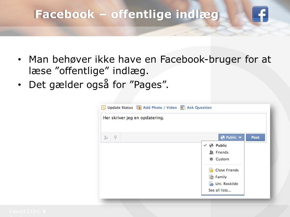 Facebook – offentlige indlæg